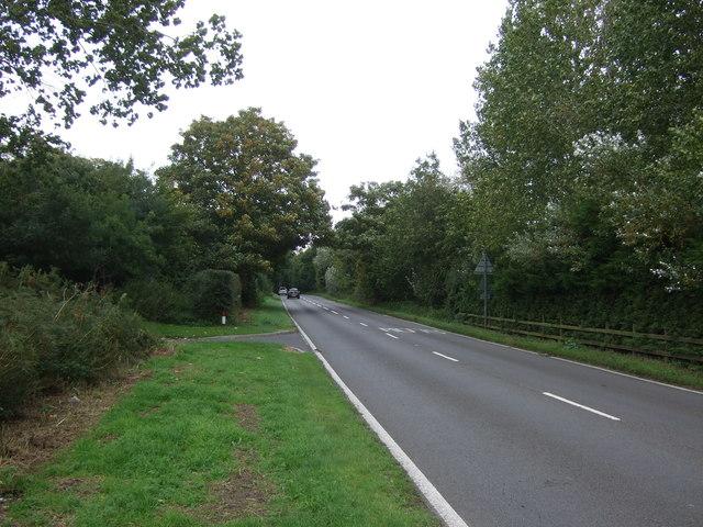 Yarmouth Road (A143) towards Haddiscoe