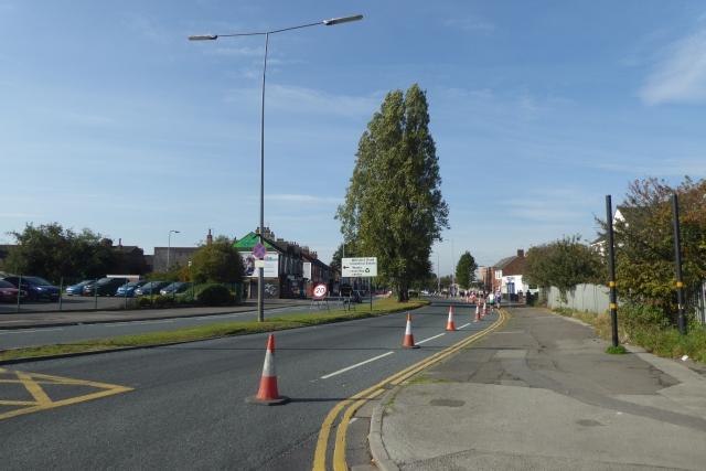 Cones on Hessle Road