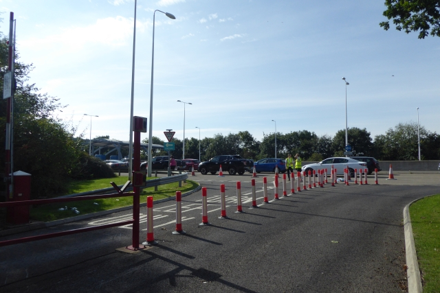Towards the toll booths