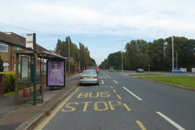 Bus stop on Boothferry Road