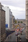 NT2574 : Closure of Leith Street by Richard Webb