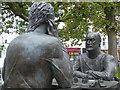 SC4594 : Millennium Sculpture (detail), Ramsey by Robin Drayton