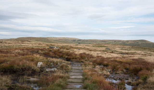 Paved route of Pennine Way