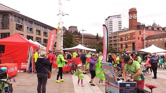 HSBC City Ride 2017, Leeds - Millennium Square