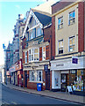 TG2242 : Newspaper offices, Church Street, Cromer by Julian Osley