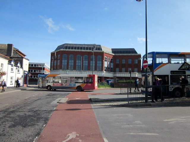 Barnstaple Bus Station From Silver Street