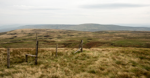 Moorland with fence line