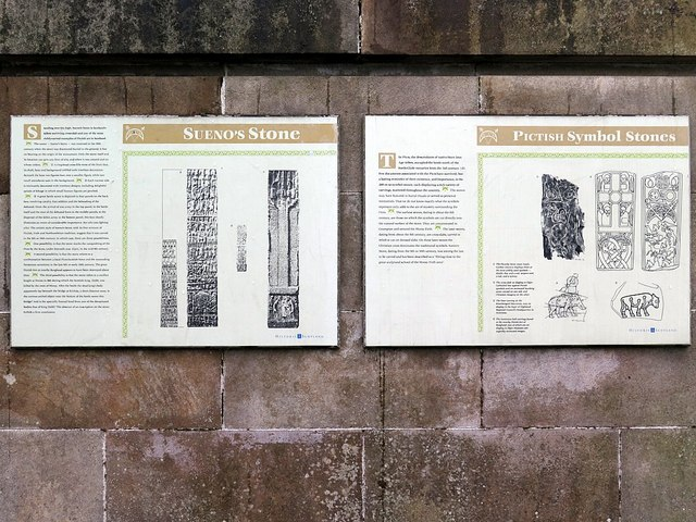 Interpretation boards, Sueno's Stone, Forres