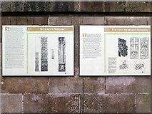 NJ0459 : Interpretation boards, Sueno's Stone, Forres by Andrew Curtis