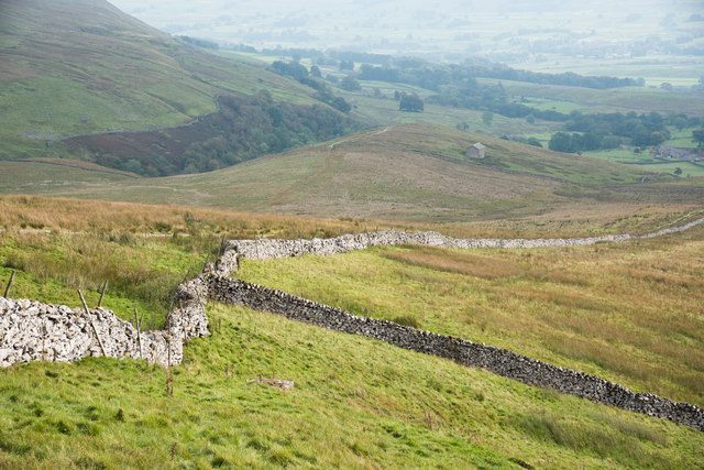 Dry stone walls and Fossdale Pasture
