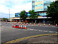 ST3188 : Partially coned-off junction in  Newport by Jaggery
