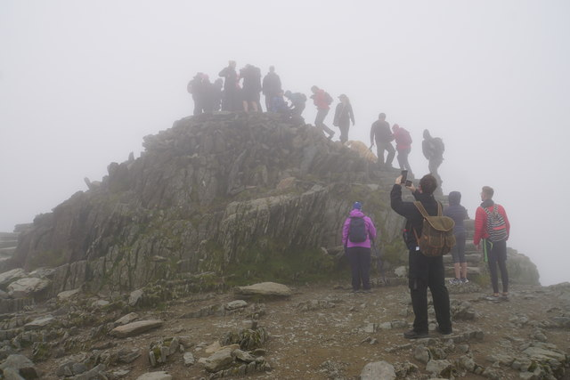 The summit of Snowdon