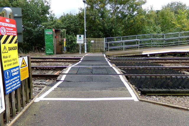 Foot Crossing at Thurston Railway Station