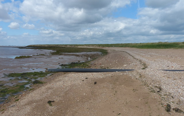 Pipe on the beach at Kilnsea