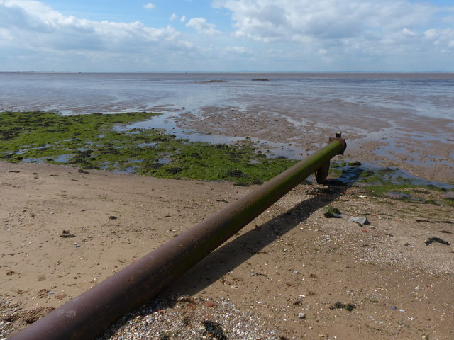 Pipe on the beach at Kilnsea