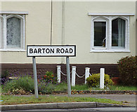 TL9165 : Barton Road sign by Adrian Cable