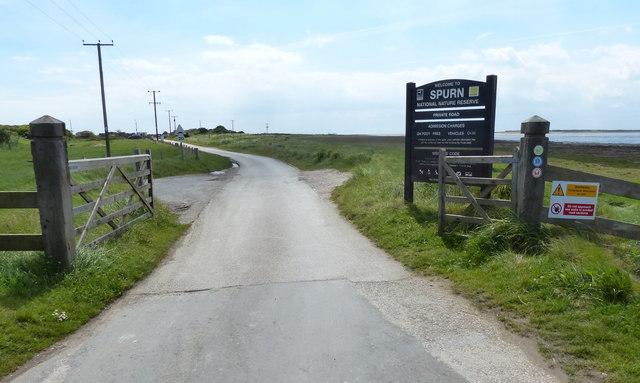 Entrance to Spurn National Nature Reserve