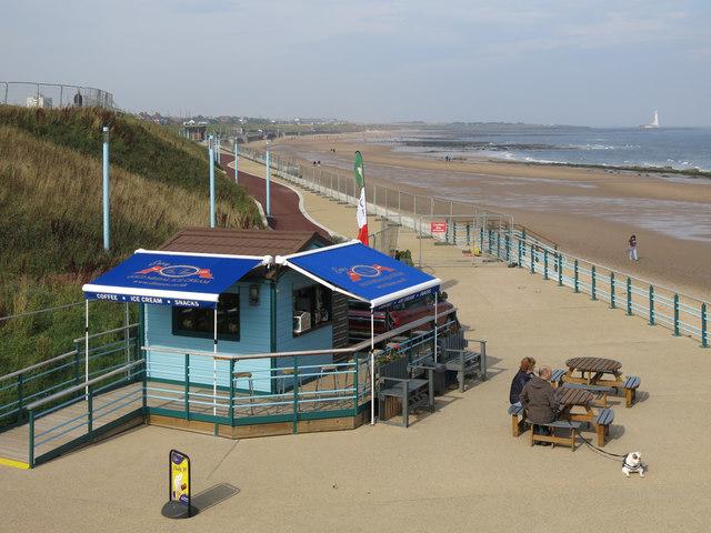 Beach café at Whitley Sands