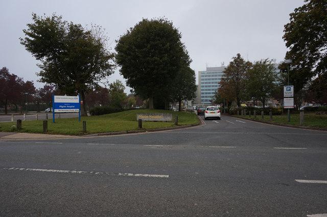 Entrance to Pilgrim Hospital, Boston
