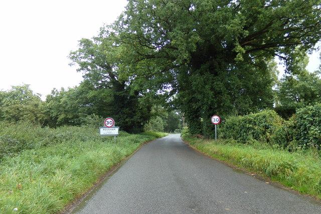 Entering Rougham on Ipswich Road