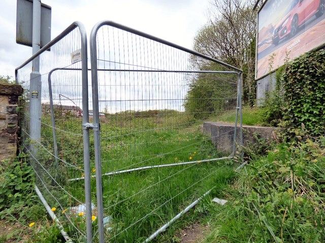 Fenced off cutting