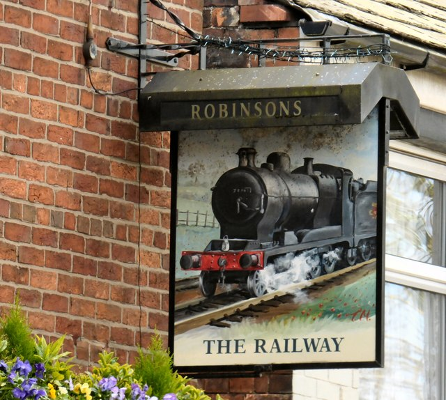 The sign of The Railway