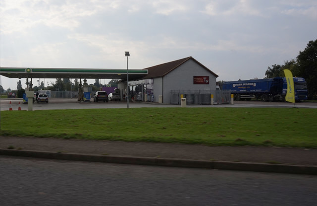 BP garage on A17 at Wisbech Road