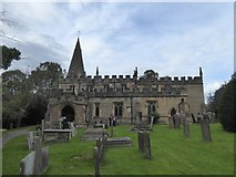 SK2572 : The south side of Baslow church and the churchyard by David Smith