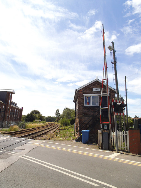 Skerne Road level crossing and signal box, Driffield (2)
