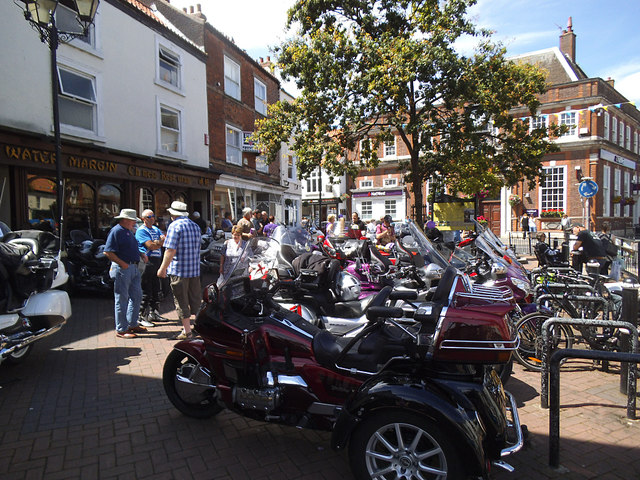 Motorbike rally in Driffield Market Place