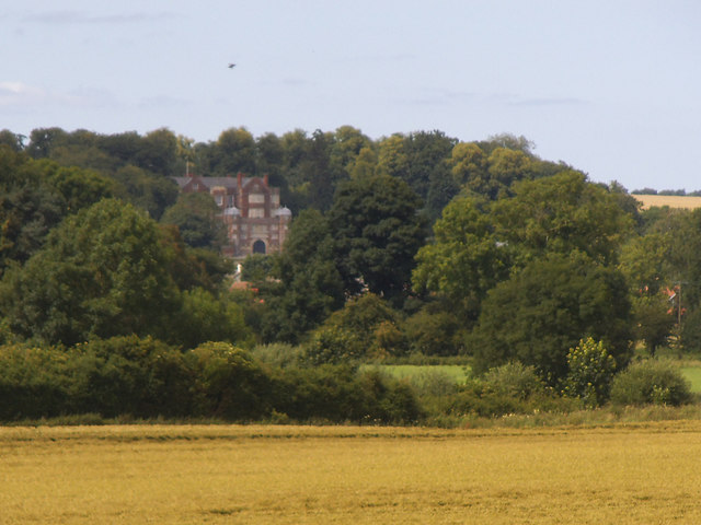 A distant view of Burton Agnes Hall