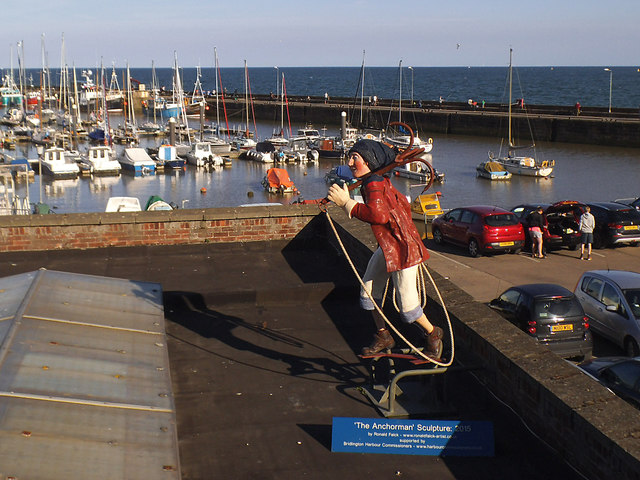 Bridlington harbour - the Anchorman