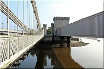 SH7877 : Three bridges spanning the Afon Conwy (2) by Richard Hoare