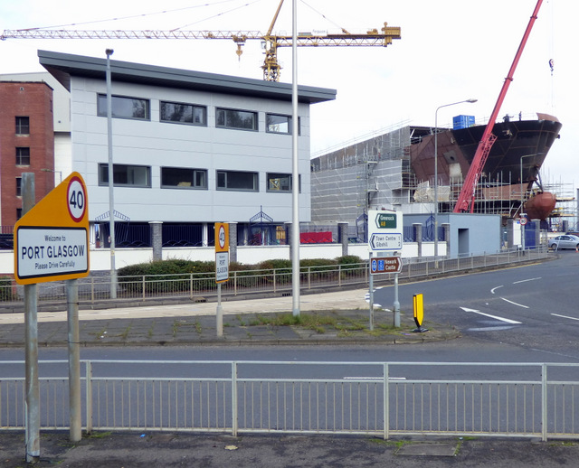 Building a ship in Port Glasgow