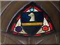 TL8195 : St Peter, Ickburgh: stained glass detail (viii) by Basher Eyre