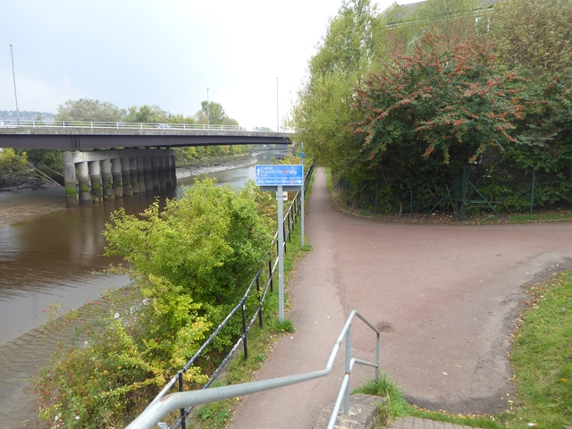 A major junction on the National Cycle Network