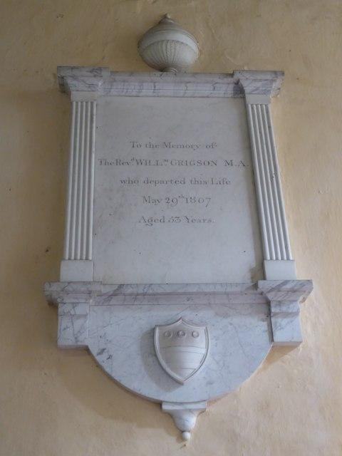 St Peter, Reymerston: memorial (iii)