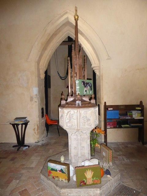 St Peter, Reymerston: font