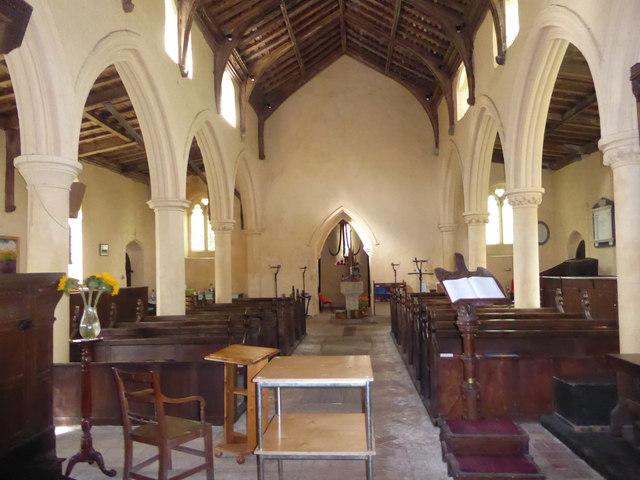 St Peter, Reymerston: centre aisle