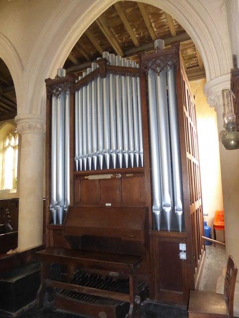 St Peter, Reymerston: organ
