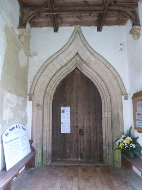 SS Peter & Paul, Carbrooke: porch door