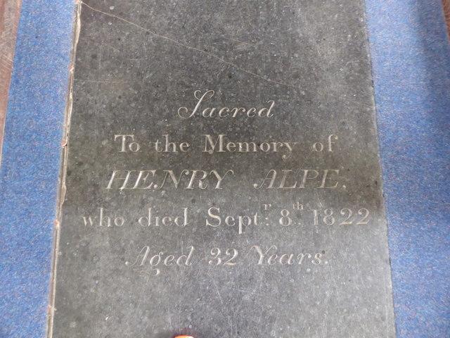 SS Peter & Paul, Carbrooke: ledger slab (III)