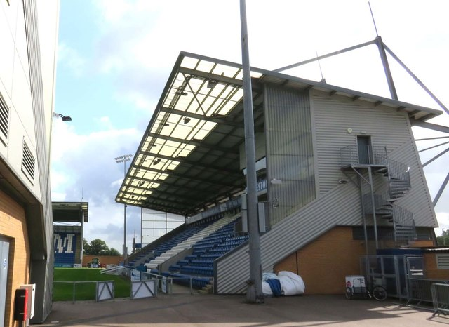 The south stand at the Colchester Community Stadium