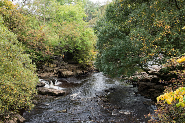 Confluence of East Gill with River Swale