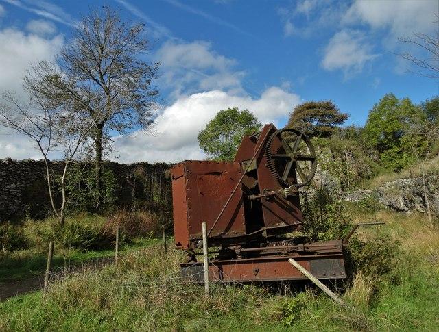 Abandoned quarrying machinery