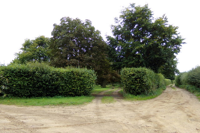 Entrance to South Acre Hall & Petticoat Drove Track