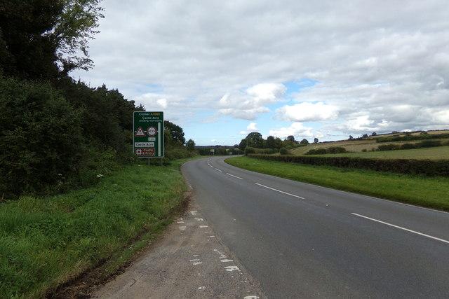 The A1065 Main Road at Bartholomew's Hills