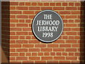 TL4458 : Plaque on Jerwood Library by Bob Harvey