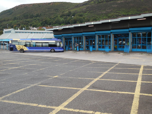 A Cymru Clipper Bus in Port Talbot Bus Station