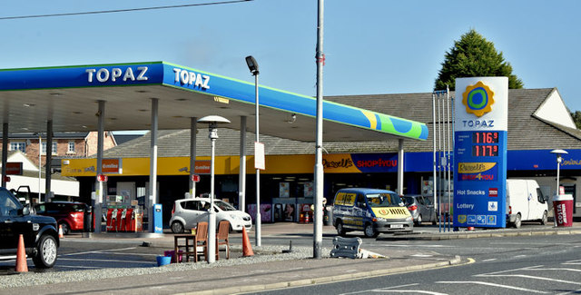 Topaz petrol station, Newtownards (September 2017)